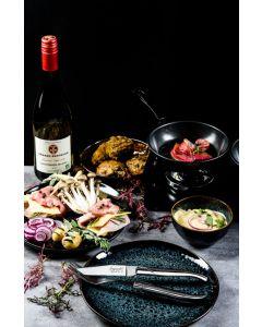Laguiole 6 steakmessen en 6 vorken RVS